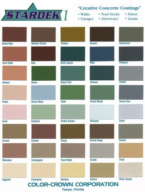 Stardek I Color Chart