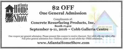 Fall Home Show 2016 Coupon